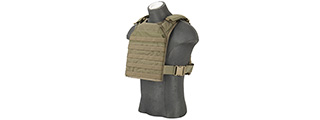 Flyye Industries 1000D Cordura MOLLE PC Plate Carrier (MED) (RANGER GREEN)