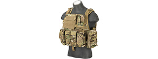 Flyye Industries 1000D Cordura MOLLE Plate Carrier w/ Pouches (LRG) MULTICAM