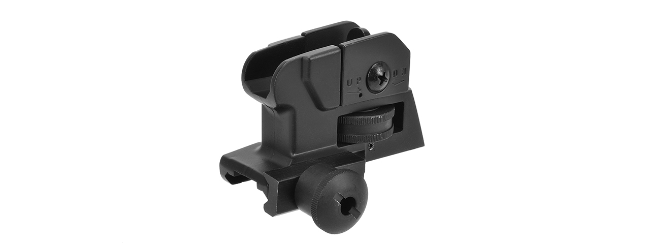 "GOLDEN EAGLE FULL METAL ""CHOPPED"" STYLE REAR SIGHT (BLACK)"