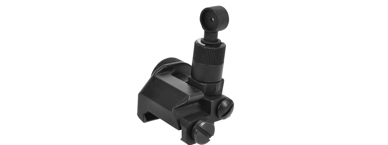 GOLDEN EAGLE METAL FLIP-UP ADJUSTABLE REAR SIGHT (BLACK)