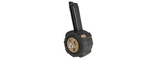 HD-001 HFC HD DRUM MAGAZINE FOR AIRSOFT GBB G-SERIES (BLACK / BROWN)