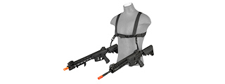 ECHO 1 AIRSOFT TACTICAL DUAL ATTACHMENT SHOULDER SLING SYSTEM (BLACK)