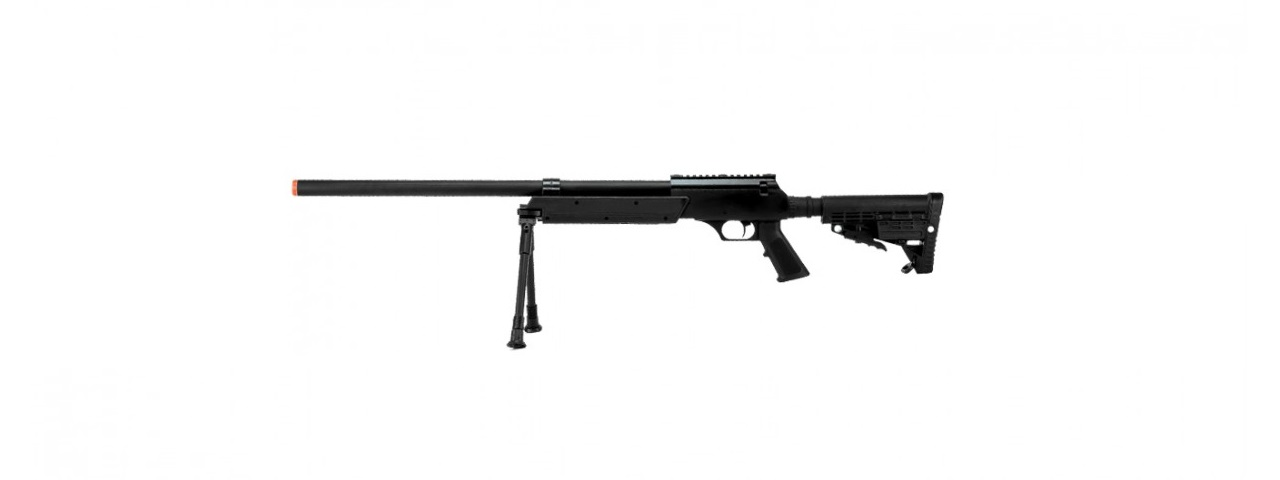 ECHO 1 ASR BOLT ACTION AIRSOFT SNIPER RIFLE W/ QUICK RELEASE BIPOD (BLACK)