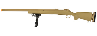 ECHO 1 M28 BOLT ACTION SNIPER RIFLE W/ BIPOD (TAN)