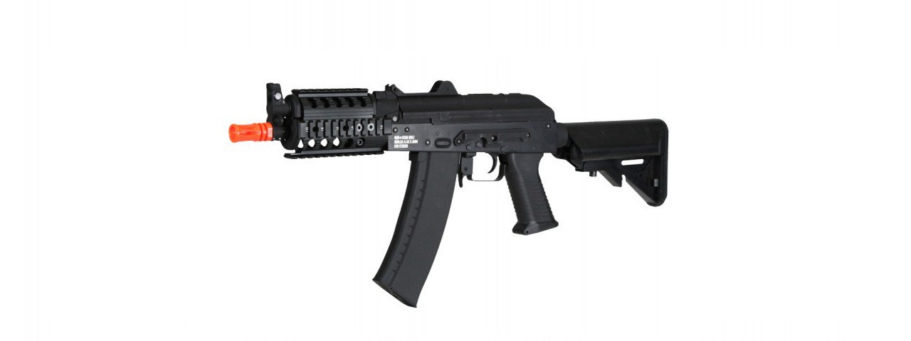 ECHO 1 REDSTAR BOLT AKS-74U CQB RIS FULL METAL AIRSOFT AEG RIFLE (BLACK)