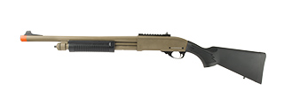 JAG ARMS SCATTERGUN HD AIRSOFT GAS SHOTGUN (STANDARD TUBE) (TAN)