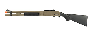 JAG ARMS SCATTERGUN HDS AIRSOFT GAS SHOTGUN - EXTENDED TUBE (TAN)
