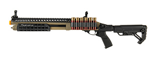 JAG ARMS SCATTERGUN SPX2 AIRSOFT GAS SHOTGUN - EXTENDED TUBE (BLACK)
