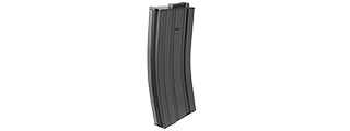 LANCER TACTICAL METAL MID-CAPACITY AEG M4/M16 MAGAZINE (BLACK)