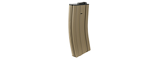 LANCER TACTICAL METAL MID-CAPACITY AEG M4/M16 MAGAZINE (TAN)
