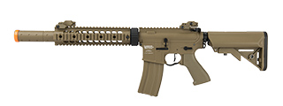 "LANCER TACTICAL M4 SD PROLINE SERIES 9"" RAIL AIRSOFT AEG [HIGH FPS] (TAN)"