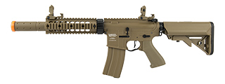 "LANCER TACTICAL M4 SD PROLINE SERIES 7"" RAIL AIRSOFT AEG [HIGH FPS] (TAN)"