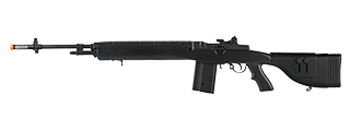 "Lancer Tactical LT-732 DMR Stock 45"" M14 SOCOM AEG Airsoft Rifle (BLACK)"