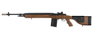"LANCER TACTICAL LT-732 DMR STOCK 45"" M14 SOCOM AIRSOFT AEG (FAUX WOOD)"