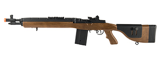 "LANCER TACTICAL LT-732 DMR STOCK 38"" M14 SOCOM AIRSOFT AEG (FAUX WOOD)"