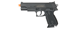 "UKARMS POLYMER SPRING OPERATED 7"" INCH BB PISTOL (BLACK)"