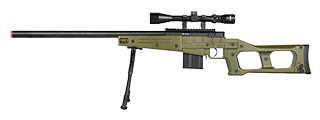 MB4408D MK96 Covert Airsoft Sniper Rifle w/ Scope & Bipod (OD GREEN)