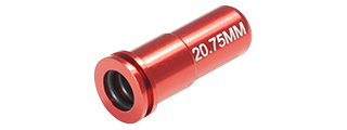 MAXX CNC ALUMINUM DOUBLE O-RING AIR SEAL NOZZLE FOR AIRSOFT AEG (RED)