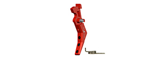 CNC Aluminum Advanced AEG Trigger (Style B) (Red)