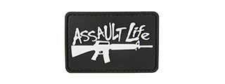 G-FORCE ASSAULT LIFE PVC MORALE PATCH (BLACK)