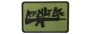 G-FORCE ASSAULT LIFE PVC MORALE PATCH (OD GREEN)
