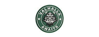 G-FORCE VALHALLA AWAITS PVC MORALE PATCH (GREEN)