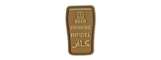 G-FORCE BEER DRINKING INFIDELS PVC MORALE PATCH