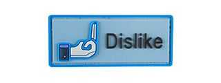 G-FORCE DISLIKE SOCIAL MEDIA PVC MORALE PATCH (BLUE)