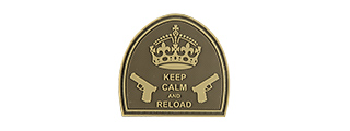 G-FORCE KEEP CALM AND RELOAD PVC PATCH