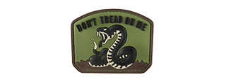 G-FORCE DON'T TREAD ON ME PVC MORALE PATCH (OD GREEN)