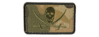 CAMO PIRATE FLAG EMBROIDERED PATCH (CAMO TROPIC)