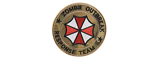 ZOMBIE RESPONSE TEAM EMBROIDED MORALE PATCH (CAMO TROPIC)