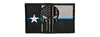 TEXAS PUNISHER EMBROIDED MORALE PATCH (BLACK)