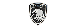 G-FORCE SHIELD OF PROJECT HONOR PVC MORALE PATCH (BLACK)