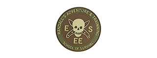 G-FORCE SCHOOL OF SURVIVAL PVC MORALE PATCH (GREEN/BROWN)