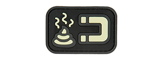 G-FORCE GLOW-IN-THE-DARK S*** MAGNET PVC MORALE PATCH (BLACK)