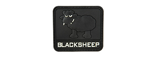 G-FORCE GLOW-IN-THE-DARK BLACK SHEEP PVC LARGE PATCH (BLACK)