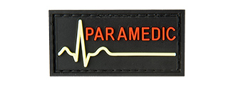 G-FORCE GLOW-IN-THE-DARK PARAMEDIC LARGE PATCH (BLACK)