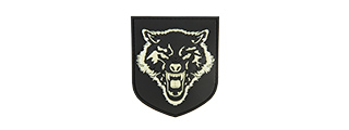 G-FORCE WOLF GLOW-IN-THE DARK PVC MORALE PATCH (BLACK)