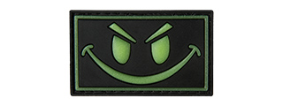 G-FORCE GLOW-IN-THE-DARK SINISTER SMILE PVC MORALE PATCH (BLACK)