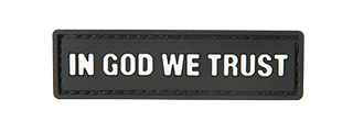 G-FORCE IN GOD WE TRUST PVC MORALE PATCH (BLACK)