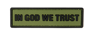 G-FORCE IN GOD WE TRUST PVC MORALE PATCH (OD GREEN)