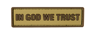 G-FORCE IN GOD WE TRUST PVC MORALE PATCH (TAN)