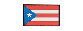 G-FORCE PUERTO RICO FLAG PVC MORALE PATCH