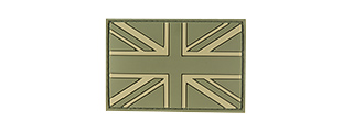 G-FORCE UK FLAG PVC MORALE PATCH (OD GREEN)