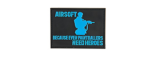 G-FORCE PAINTBALL NEEDS HEROES PVC MORALE PATCH (BLACK / BLUE)