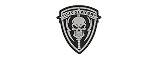 G-FORCE ISIS SLAYER KNIFE AND SKULL PVC MORALE PATCH (BLACK)