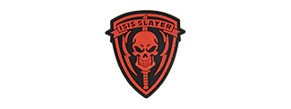 G-FORCE ISIS SLAYER KNIFE AND SKULL PVC MORALE PATCH (RED)