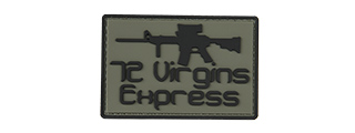 72 VIRGINS EXPRESS PVC MORALE PATCH (BLACK)