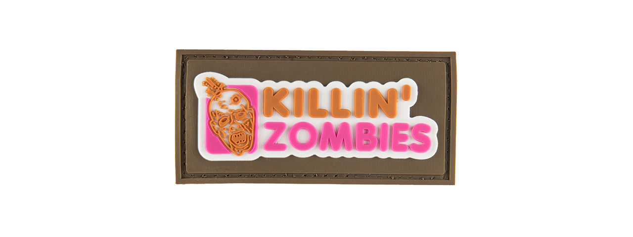 G-FORCE KILLING ZOMBIES PVC MORALE PATCH (TAN)